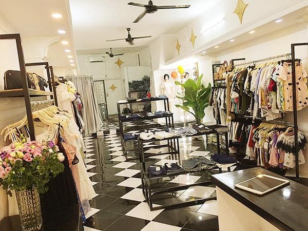các mẫu thiết kế shop quần áo đẹp