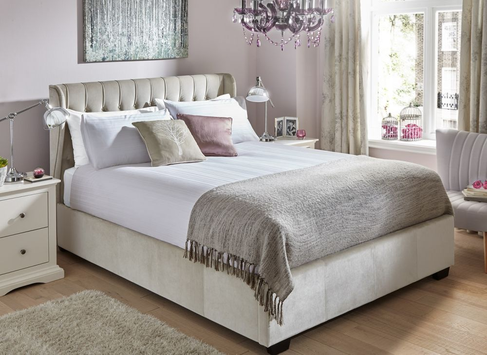 giường ngủ có ngăn kéo màu óc chó