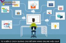 Từ A đến Z cách quảng cáo để bán hàng online hiệu quả