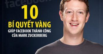 """10 """"bí quyết vàng"""" giúp Facebook thành công của Mark Zuckerberg"""