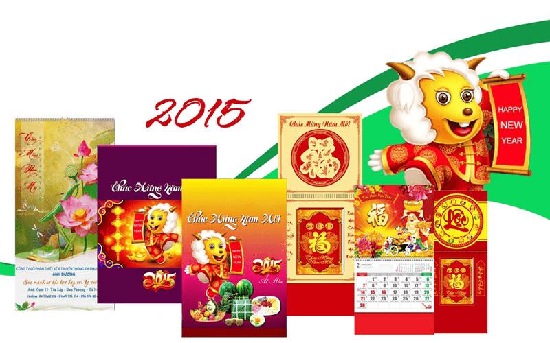 In lịch là món quà thường được tặng vào dịp cuối năm