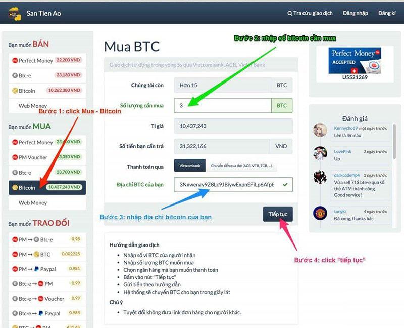 Santienao.com với các thao tác giao dịch đơn giản