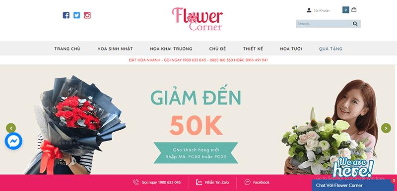 flowercorner.vn là 1 trong số những website bán hoa tươi nổi tiếng