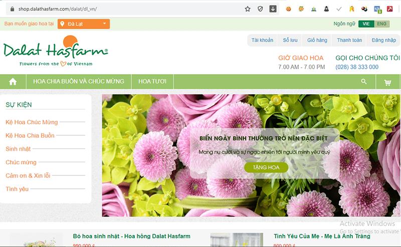 shop.dalathasfarm.com là 1 trong số những website bán hoa tươi nổi tiếng